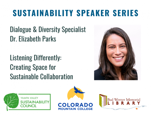 Sustainability Speaker Series: Listening Differently – Creating Space for Sustainable Collaboration